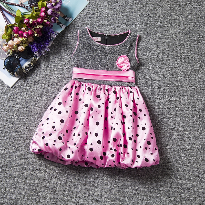 2016 Retail Baby Girl Clothes Sleeveless  Dresses Pretty Bow Kids Clothes New Lovely summer dress Lori Style Three color B005<br><br>Aliexpress