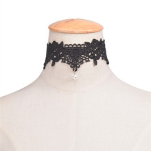 New Fashion Elegant Vintage Imitation Pearl Lace Statement Choker Necklaces Collar Crochet Bridal Wedding Jewelry Gift