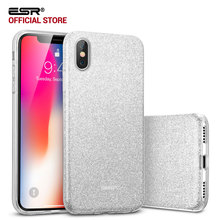 Case for iphone X 5.8 inch, ESR Makeup Series Back Cover Shinning Protective Bumper Bling Glitter 3Layer Case for iPhoneX 5.8 10(China)