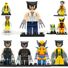 Marvel Super Hero Wolverine Figure Single Sale X-Men Building Blocks Sets Models Bricks Toys XH234 XH011(China)