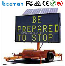 Leeman LED trailer signs VMS LED Full Matrix Trailer Led sign VMS With 12V Solar Power Supply
