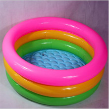 2017 fashion Fluorescent Trinuclear Inflatable Pool Baby Swimming Pool Piscina Portable Outdoor Children Basin Bathtub Infant