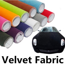 100*45CM Black Red Velvet Fabric Velvet Film Suede Film Car Sticker With Bubble Car Interior Sticker Car Body Decoration Sticker