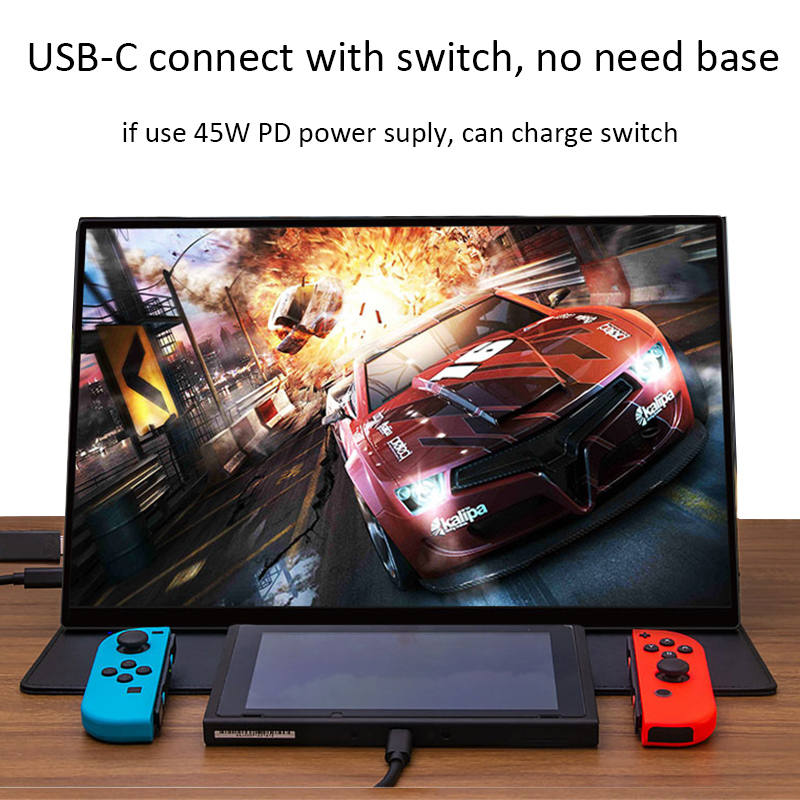 Super Thin No Frame 4K Portable Screen 15.6 Inch Gaming Monitor For Ns PS4 XBOX Switch Laptop PC Computer With Speaker 14