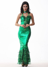 Elegant Lady Mermaid Tail Dress Adult Women Halloween Christmas Party Cosplay Costume Female Game Uniform