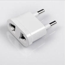 1PCS New US (USA) to EU (Europe) Travel Power Plug Adapter for USA converter White Charger Charging Adapter Converter Adaptor