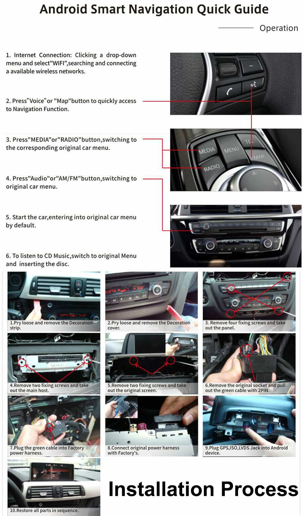 LiisLee Car Multimedia GPS Audio Hi-Fi Radio Stereo For BMW 1 Series E81 E82 E87 E88 Original CCC Style Navigation NAVI