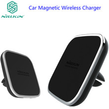Nillkin car QI Wireless Charger Holder Magnetic Air Vent Mount pad for samsung s8 s8 Plus s7 S7 Edge Note 5 for iPhone 7 7 Plus