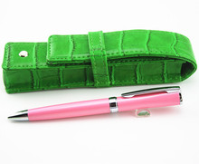 High quality MOUNT mester series Pink lattice 163 Ballpoint Pen school office stationery luxury distribution of leather bag
