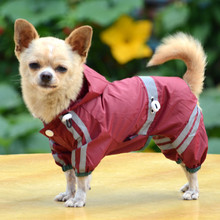 2016 Fashion Pet Dog Clothes Rain Coat Jacket Clothes Dogs Waterproof Cloak Puppy Raincoat Rainsuit Chihuahua 3 Colors(China)