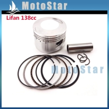 54mm 14mm Piston Pin Ring Set Kit For Chinese Lifan 138cc Engine 4 Wheeler Motorcycle Pit Dirt Trail Motor Bike ATV Quad(China)