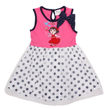 Dora kid dresses for children girls hot!,vestido infantis de birthday dresses for baby girls,fashion ROSE RED kid wear clothes