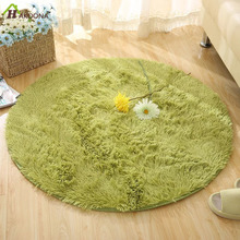 HAKOONA Round Solid Color Carpet For Living Room Large Size Rugs Home Decoration(China)