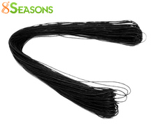 8SEASONS 80M Wholesale Black Waxed Cotton Necklace Cord 1mm (B07405)