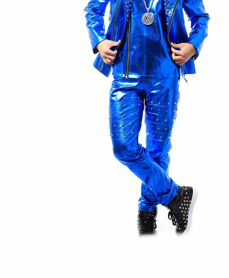 HTB1QiSOXwfN8KJjSZFIq6A0UFXai - (jacket+pants+vest) men blue rivet suits dancer singer dress performance show nightclub clothing pants Outdoors wear bar party