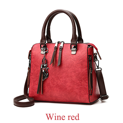 Cat Tassel Luxury Women Bag Double Zipper Crossbody Shoulder-bag