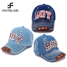 Fashion USA element BOY denim Baby Kids Baseball Cap snapback Hats Jean Boys Girls sun Hat casquette for 3-8years old children