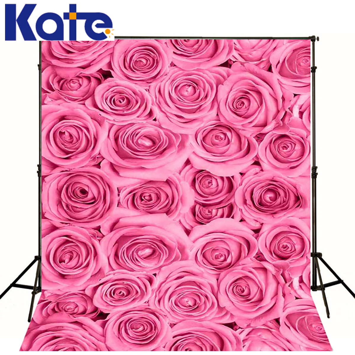KATE ValentineS Day  Backdrop Photography Backdrops 5x7ft 3D Pattern Backdrop Pink Roses photocall backgrounds for Photo Studio<br>