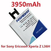 HSABAT 3950mAh LIS1502ERPC Battery Use for SONY Xperia Z L36H lt36h L36i S39H SO-02E C6603 C6602 C6600 C660X Xperia C CN3