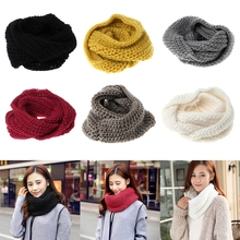 Fashion Men Women Winter Warm Infinity Cable Soft Knit Collar Crochet Scarf Loop(China)