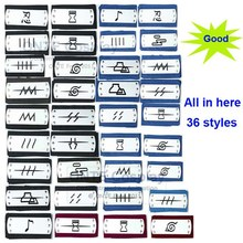 10pcs Mix 36 styles Anime naruto Cosplay Headband Leaf Village Logo Uchiha Itachi Kakashi Akatsuki cosplay costume Accessories