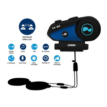 Newest Lexin-B2 Motorcycle Bluetooth Helmet Headsets Intercom BT Wireless Interphone intercomunicador bluetooth para motocicleta(China)