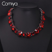 Comiya White Red Cryatal Collar Necklace Fashion Jewelry Brand Colar Necklaces Pendants Perfume Women Bijouterie Brincos Boho(China)
