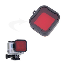 Filter For GoPro hero 3+ 4 hero 5 camcorder Gopro accessories polarizer Red / Yellow  color underwater diving UV lens filter