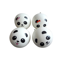 MENGXIANG Panda Buns Bread Charms Key/Bag/Car/Cell Phone Straps Miniatures Figurines 7 cm(China)