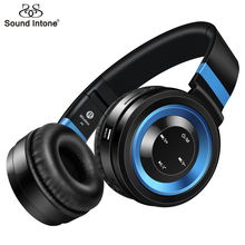 Sound Intone Bluetooth Wireless Headphones With Microphone Support TF Card FM Radio Stereo Bass Headset For Mobile Phone PC MP3(China)