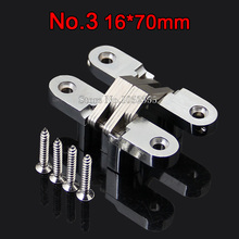 Brand New 16*70mm Invisible Concealed Cross Door Hinge Zinc Alloy Hidden Hinge Bearing 20KG For Folding Door Hidden Door K97-2