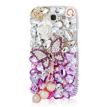 MAVISSDIARY Case for Samsung Galaxy S3 Handmade Luxury 3D Glitter Crystal Diamond Rhinestone Case Back Cover for Samsung S3(China)