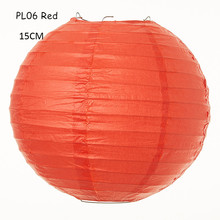 6inch(15cm) 15pcs/lot Beautiful Chinese Handmade Red Rice Paper Lanterns Balls for Festival Parties Wedding Holiday Decorations