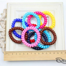 Free Shipping 5Pcs/lot Cute Candy Color Hair Jewelry Headbands Telephone Wire Fashion Hair Rope For Women Hair Band(China)