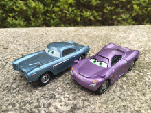 KK01--Pixar Car Movie 1:55 Metal Diecast Holly Shiftwell & Finn McMissile 2pcs Set Toy Cars New Loose