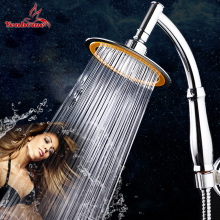 4/6 inch Bathroom Shower Head Round Chrome Ultra-thin Showerheads Rainfall Shower Head Rotate 360 Degrees Hand Held Rain Shower