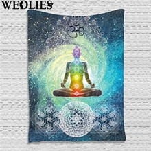 Indian Mandala Tapestry Wall Hanging 200X130cm Bohemian Bedspread Bedsheets Dorm Cover Home Room Wall Art Decor Mat Rug Textiles