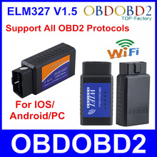 Hot ! Latest Version ELM327 WIFI OBD2 / OBDII Auto Diagnostic Scanner Tool ELM 327 WiFi free ship wifi obd2 elm327, wifi elm327