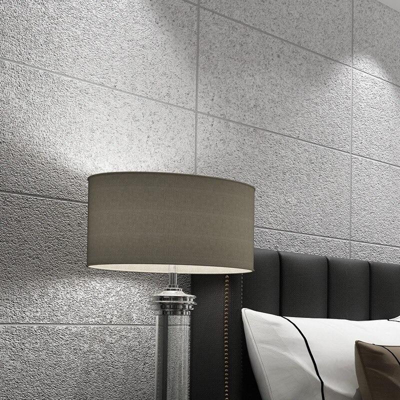 Modern Simple 3D Imitation Marble Tiles Lattice Wallpaper Bedroom Living Room TV Backdrop Flocking Non-woven Striped Wall Paper<br>