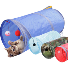 Funny Pet Tunnel Cat Play Tunnel Foldable Cat Tunnel Kitten Cat Toys Bulk Cat Toys Rabbit Straight Play Tunnel Wholesale 30JE28(China)