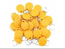 50pcs 125kHz EM4100 RFID Proximity ID Entry Access Key Ring Tag Fob Color Yellow