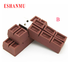 Hot usb flash drive USB 2.0 Chocolate Cartoon sweet love 4gb 8gb 16gb 32gb 64gb memory stick flash drive pendrive