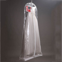 Pvc Dust Bag Clear Wedding Dress Cover Storage Bags Dustproof Large Bridal Gown Garment 160/170/180CM(China)