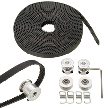 Newest 20T GT2 Timing Belt 2.5m Length + 4pcs Pulley Idler + 4pcs Tensioner 3D Printer Tool Set