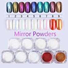 1Box 1g Mirror Nail Glitter Powder Gold Blue Purple Dust Manicure Nail Art Glitter Chrome Pigment Powder Decoration