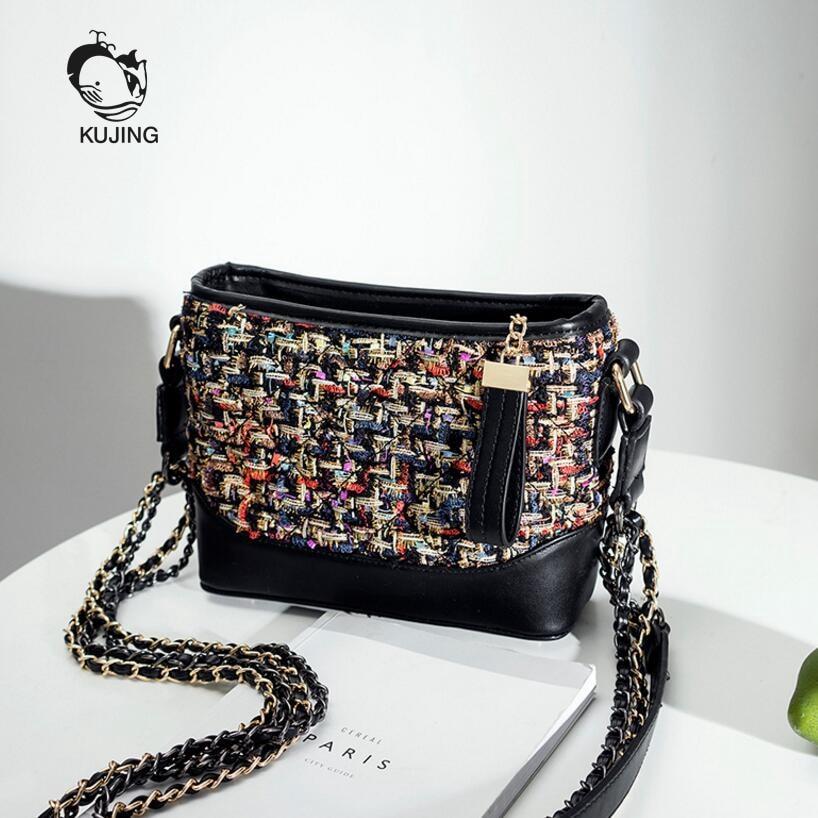 KUJING Fashion Handbags Handmade Wallets Small Sachet Womens Shoulder Messenger Bag Hot Chain Women Bag Cheap Women Casual Bag<br>