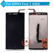For OPPO Find 5 X909 LCD Display Touch Screen Digitizer Glass Assembly black