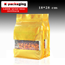 5 pcs 18x28cm Special Laser Barrier Flat Bottom Bags / Gravure Laser Food Packaging / Laser Laminate Zip Seal Bag