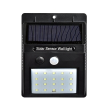 New 20 LED LED Solar Power PIR Motion Sensor Wall Light Outdoor Waterproof Energy Saving Street Yard Path Home Garden Solar Lamp