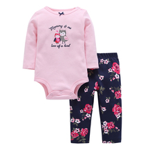 2 Fashion Cotton Worsted Rushed Units Set Newborn Children Clothes 2017 New Spring And Autumn Babies Pant Mamluks Monkey Baby